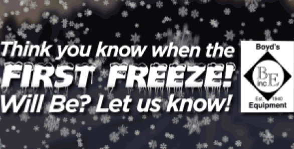 News Channel 10 First Freeze Contest