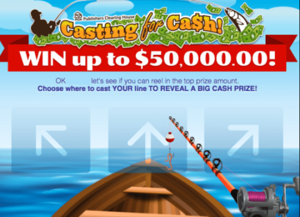 PCH Casting For Cash Sweepstakes