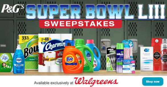 P&G Superbowl LIII Sweepstakes