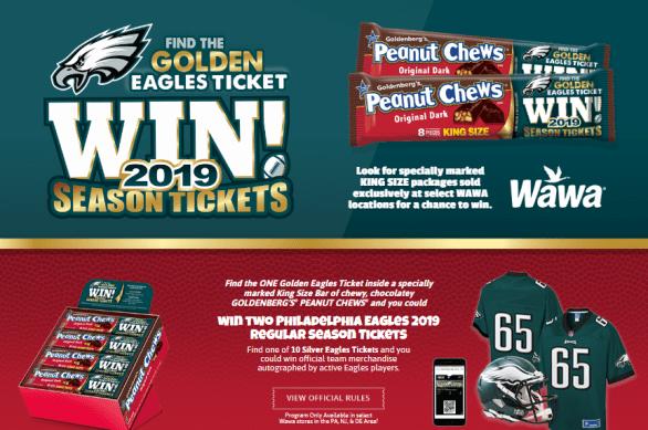 Peanut Chews Just Born Golden Eagles Ticket Instant Win Game