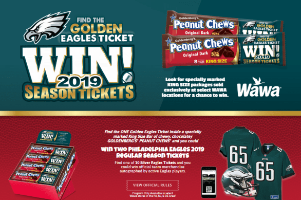 Peanut Chews Just Born Golden Eagles Ticket Instant Win Game