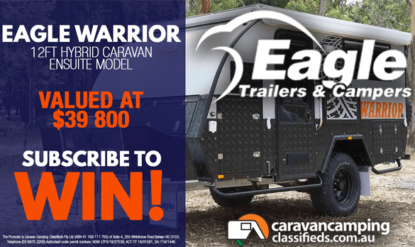Whats Up Down Under Eagle Warrior 12FT Hybrid Camper Competition