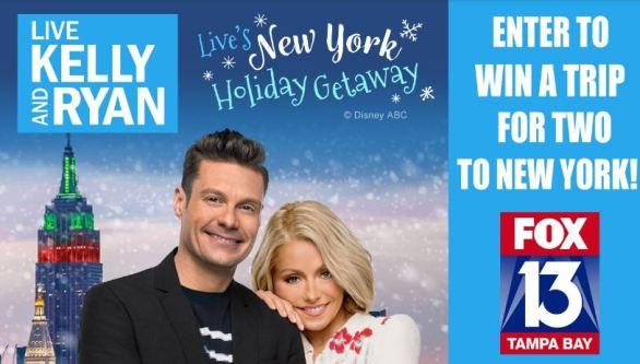 Fox 13 News Kelly & Ryan New York Holiday Trip Contest