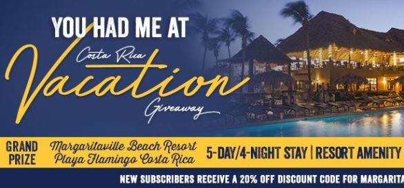 Margaritaville You Had Me at Costa Rica Vacation Giveaway