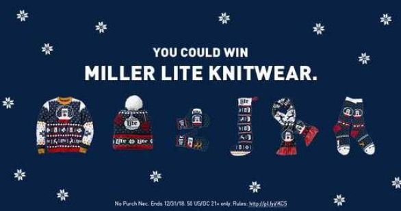 Miller Lite Ugly Sweater Instant Win Game