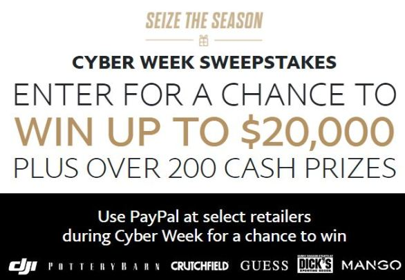 Paypal Cyber Week Sweepstakes