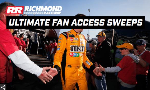 Richmond Raceway Ultimate Fan Access Weekend Sweepstakes