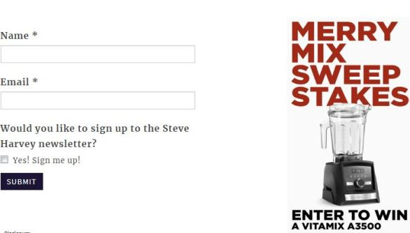 Steve Harvey Merry Mix Sweepstakes