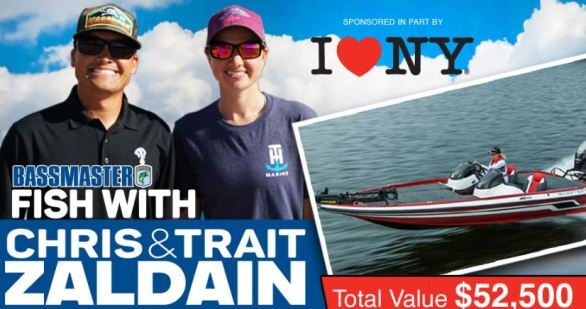 Bassmaster Fish with Zaldain Sweepstakes