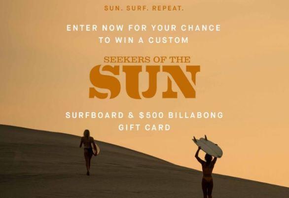 Billabong Seekers of the Sun Surfboard Sweepstakes