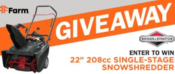 Fleet Farm Snow Blower Giveaway