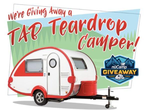 NuCamp RV TAB Teardrop Camper Giveaway