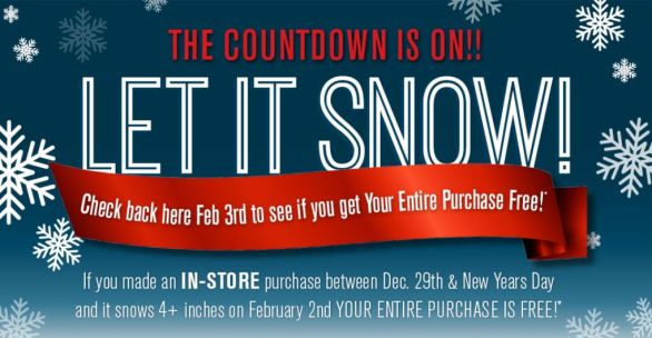 The Room Place Let It Snow Sweepstakes