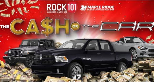 Rock101-Cash-OR-Car-Contest