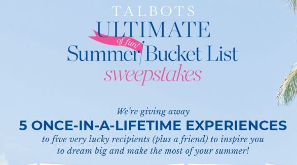 TalbotsSummerBucketList-Sweepstakes