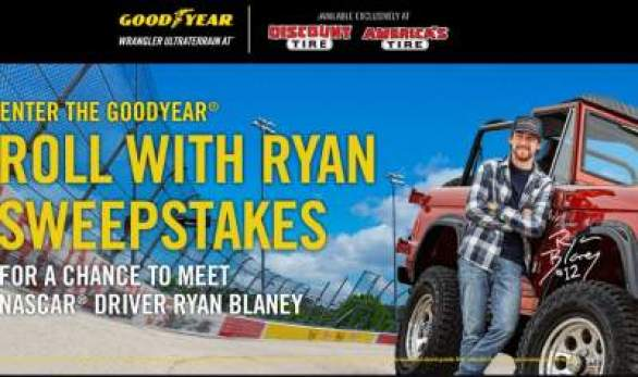 Goodyear-Roll-With-Ryan-Sweepstakes