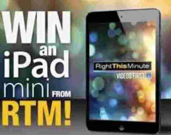 RightThisMinute-iPad-Sweepstakes