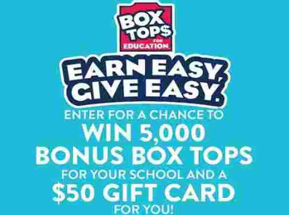 Boxtops4education-Earn-Easy-Give-Easy-Sweepstakes