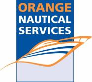 orange nautical servies