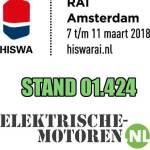 Banner HISWA 2018 elektrische motoren