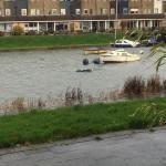 gezonken bootje lichten Oud-Beijerland
