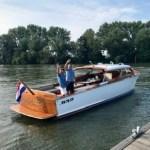 Romp klassieke houten boot spuiten