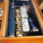 Nakijken bolinder munktell motor op voormalige patrouilleboot