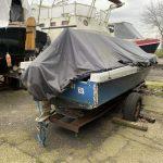 Spiegel / achterzijde van Polyester sloep repareren. Lokatie Groningen
