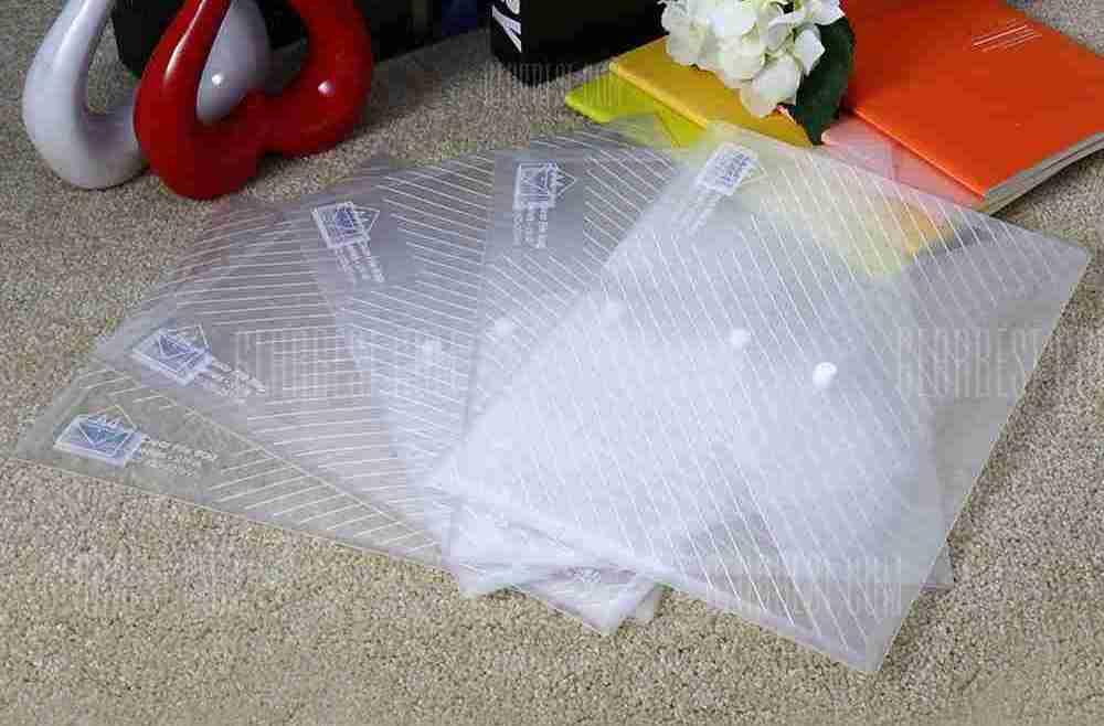 offertehitech-gearbest-Deli 5501 5PCS A4 Clear File Bag
