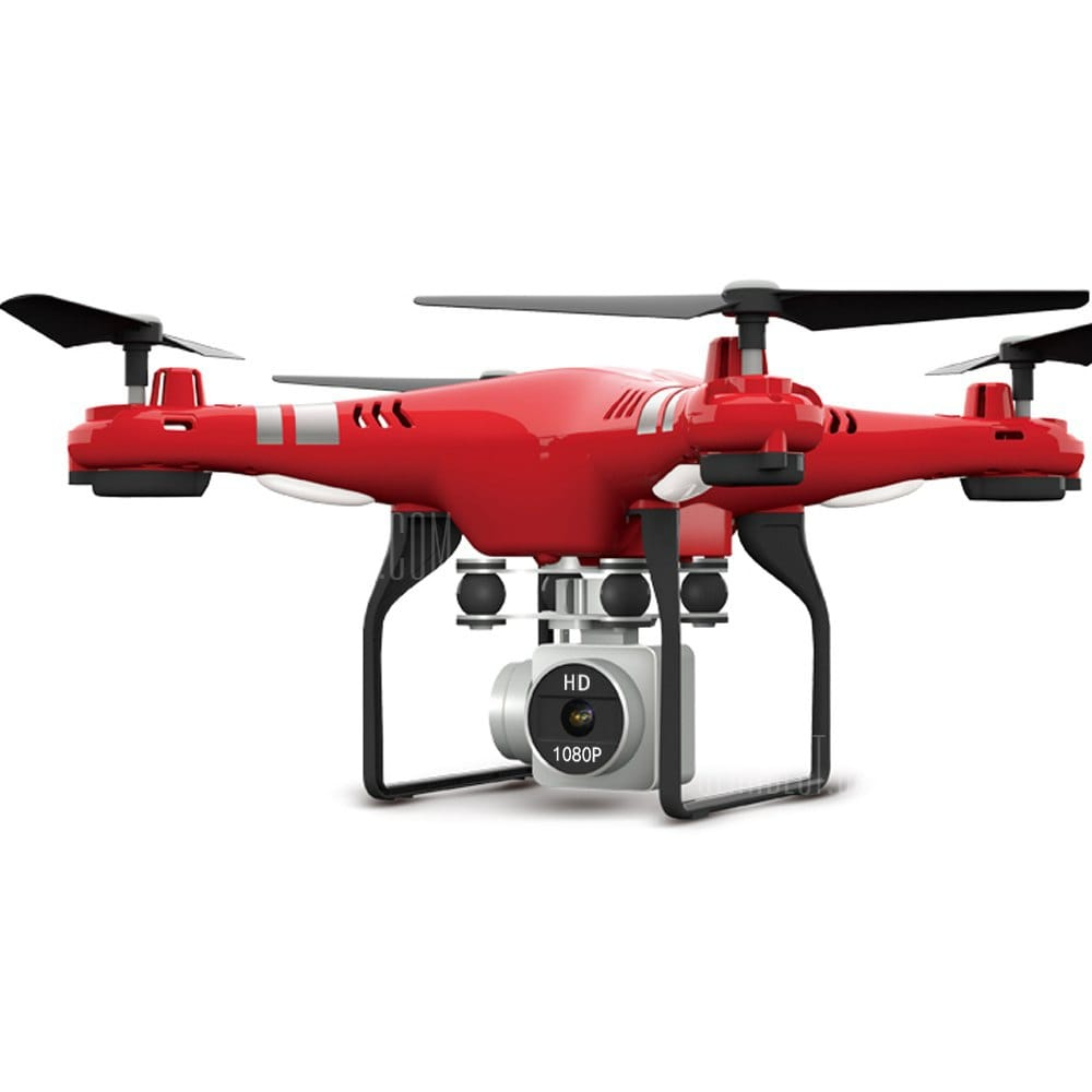 offertehitech-gearbest-RC Drone RTF  With 1080P HD Camera Quadcopter One Key Auto Return Height Holding  -  Red