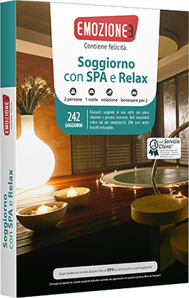 Idee regalo cofanetto soggiorno con spa Emozione3 San Valentino  Offerte Shopping