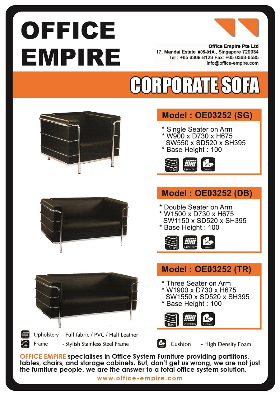 sofa furniture singapore power recliner sofas uk office corporate for reception lounge oe03252 db