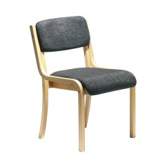 Office Chair Without Arms Curved Back Dining Prague Conference With No