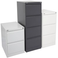 Deluxe Three Drawer Filing Cabinet