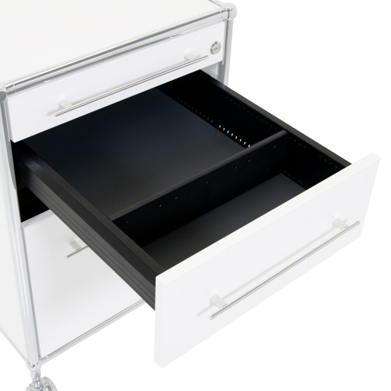 Rollcontainer inox weiss