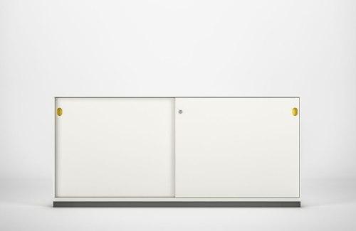 Sideboard T200 Schiebetüren weiss