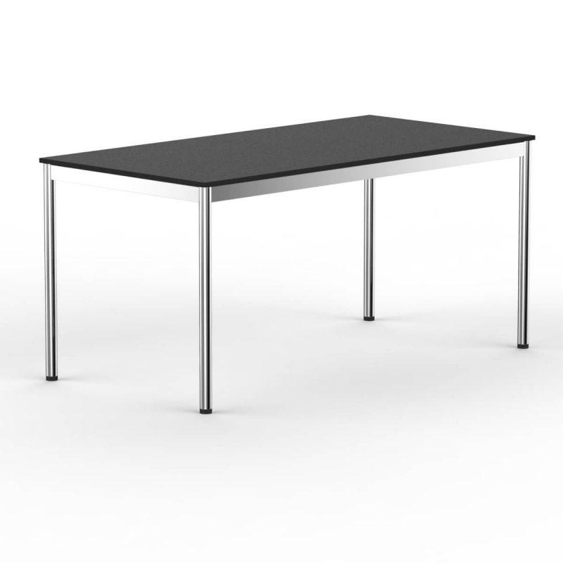 T1 Inox Schreibtisch schwarz