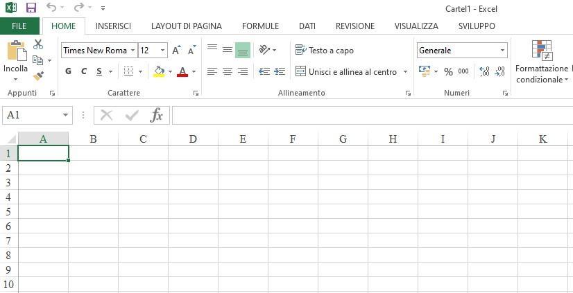 Office online - celle di Excel