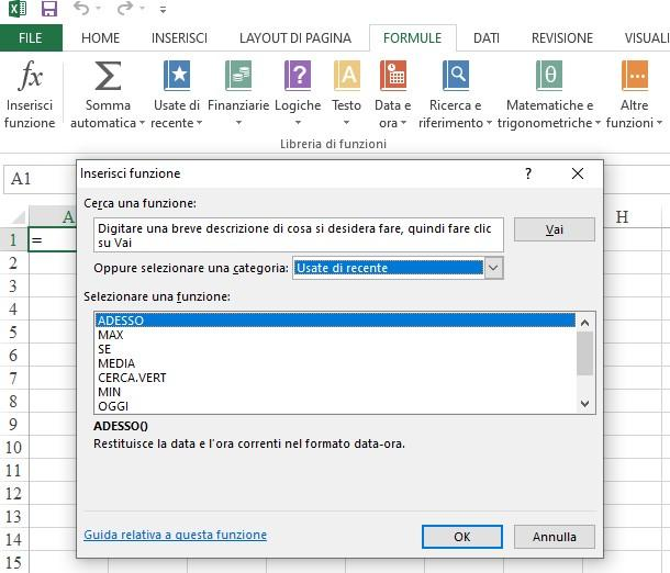 Office online - funzioni excel