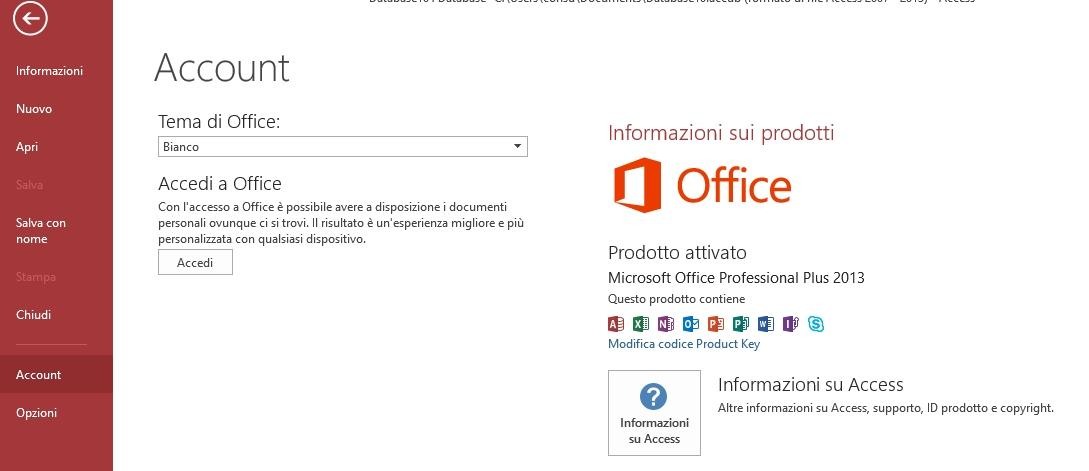 Office online - versione Access 2013