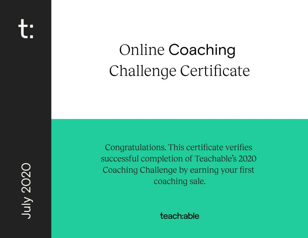 Office online - Certificato finale Coaching Teachable