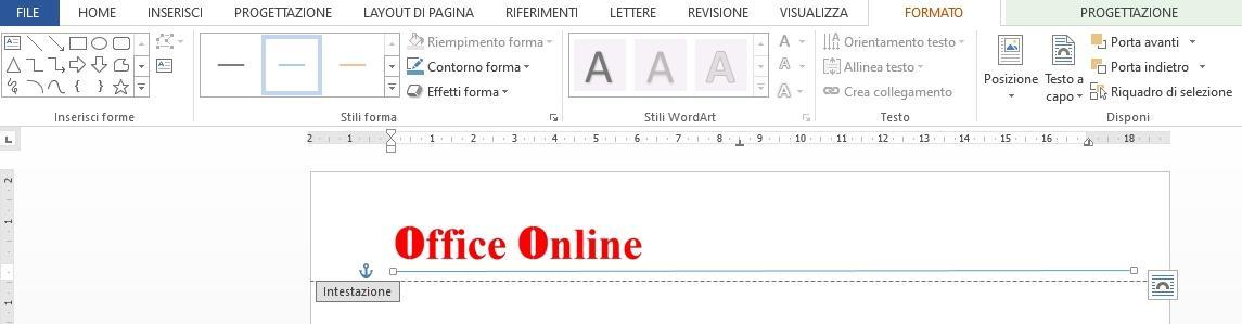 Office online - creare una carta intestata 03