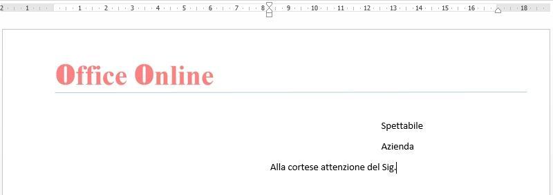 Office online - creare una carta intestata 05