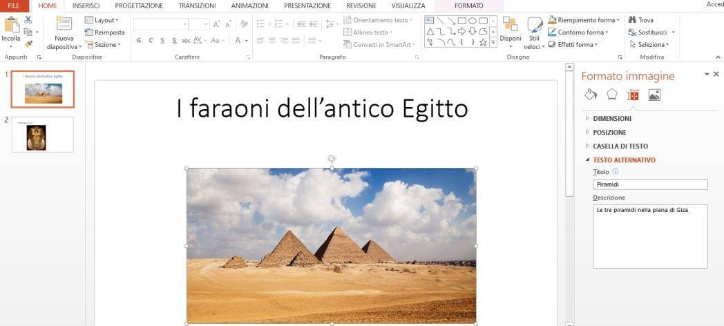 Office online - inserimento del testo alternativo 02