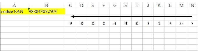Office online - calcolare carattere controllo barcode