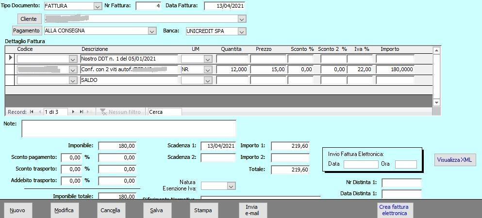 Office online: gestione azienda - fatture