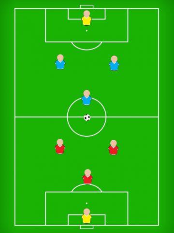 サッカーの練習方法「4対4のミニゲーム」②
