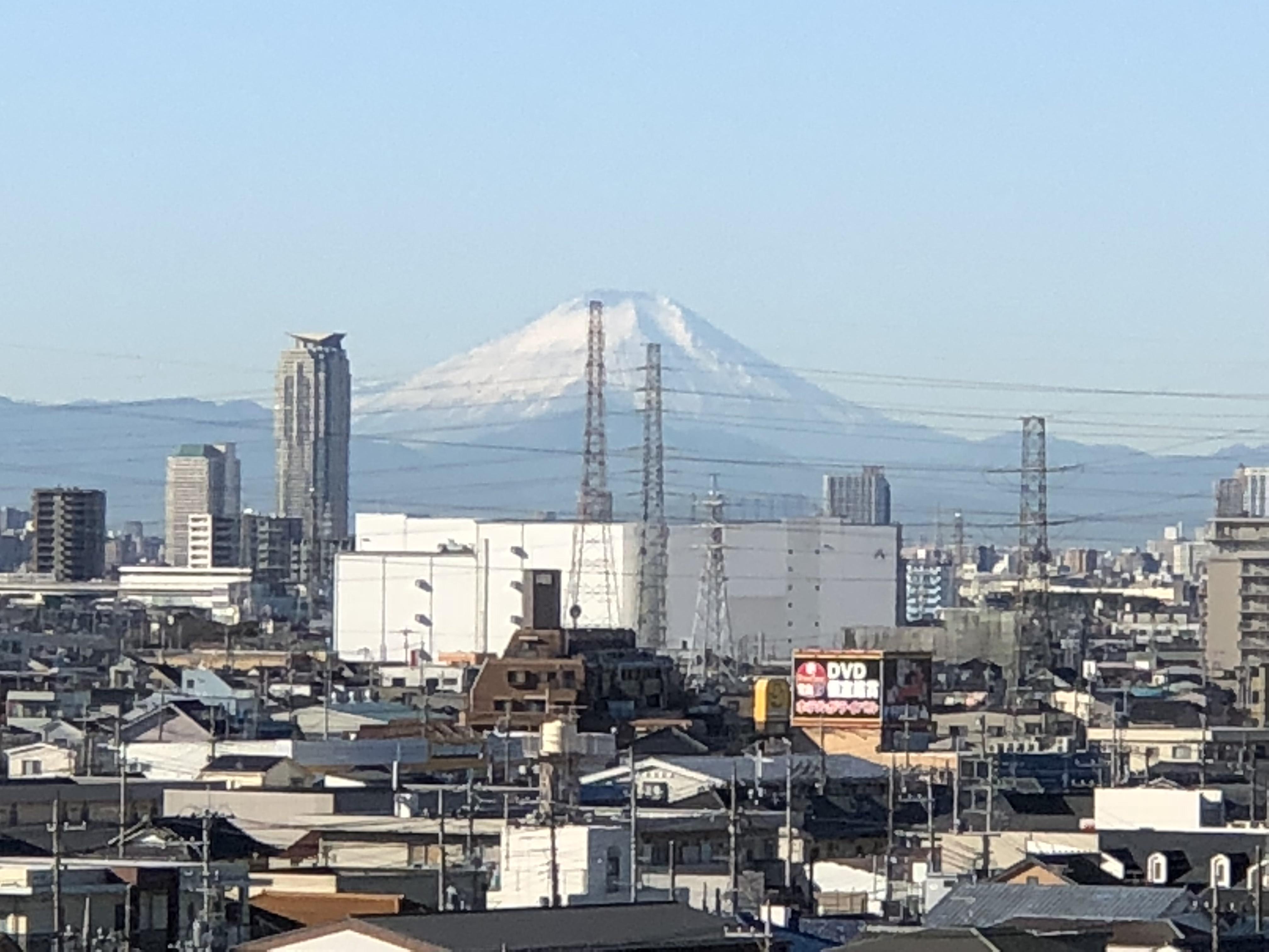 旧事務所から見えた富士山です。
