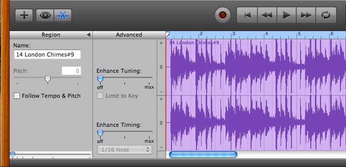 Using GarageBand to Transpose a Song Imported from iTunes