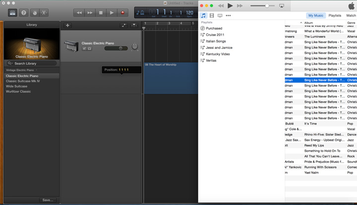 GarageBand 10 1 0 can Transpose a Song Imported from iTunes